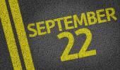 September 22 written on the road — Stock Photo
