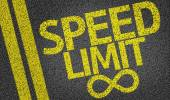Speed Limit written on the road — Stock Photo
