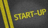 Start-Up written on the road — Stock Photo