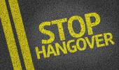 Stop Hangover written on the road — Stock Photo