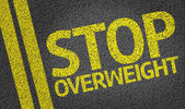 Stop Overweight written on the road — Stock Photo