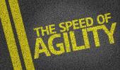 The Speed of Agility written on the road — Stok fotoğraf