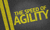 The Speed of Agility written on the road — Stock Photo