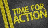 Time for Action written on the road background — Stock Photo