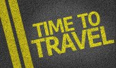 Time to Travel written on the road — Stock Photo