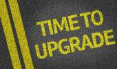 Time to Upgrade written on the road — Stock Photo