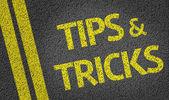 Tips & Tricks written on the road — Stock Photo