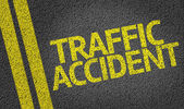 Traffic Accident written on the road — Stock Photo