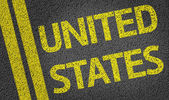 United States written on the road — Stock Photo