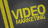 Video Marketing written on the road — Stock Photo