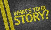 What's your Story? written on the road — Stock Photo