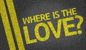 Where is the Love? written on the road — Stock Photo