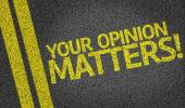 Your Opinion Matters written on the road — Zdjęcie stockowe