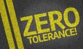 Zero Tolerance written on the road — Stock Photo