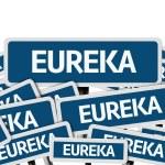 Eureka written on multiple road sign — Stock Photo #54682757