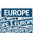 Europe written on multiple road sign — Stock Photo #54682767