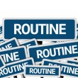 Routine written on multiple road sign — Stock Photo #54682977