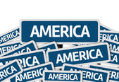 America written on multiple road sign — Stock Photo