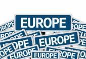 Europe written on multiple road sign — Stockfoto
