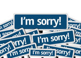 I'm Sorry! written on multiple road sign — Stock Photo