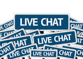 Live Chat written on multiple road sign — Stock Photo