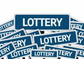 Lottery written on multiple road sign — Stock Photo