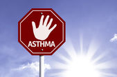 Stop Asthma red sign — Fotografia Stock