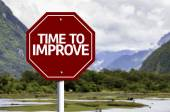 Time to Improve red sign — Stock Photo