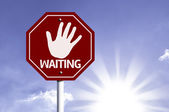 Stop Waiting red sign — Stock Photo