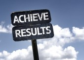 Achieve Results   sign — Stock Photo