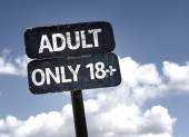 Adult Only 18 plus   sign — Stock Photo
