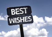 Best Wishes sign — Stock Photo