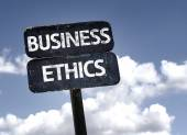 Business Ethics sign — Stock Photo