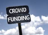 Crowd Funding sign — Stock Photo