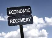 Economic Recovery sign — Stock Photo