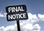 Final Notice sign — Stock Photo