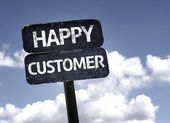 Happy Customer sign — Stock Photo