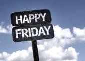 Happy Friday sign — Stock Photo