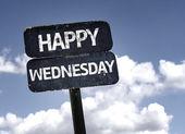 Happy Wednesday sign — Stock Photo