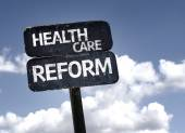 Health Care Reform sign — Stock Photo