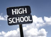 High School sign — Stock Photo