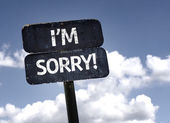 I'm Sorry! sign — Stock Photo