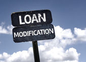 Loan Modification sign — Stock Photo