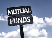 Mutual Funds sign — Stock Photo