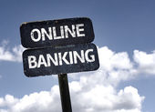 Online Banking sign — Stock Photo