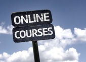 Online Courses sign — Stock Photo