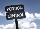 Portion Control sign — Stock Photo