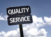 Quality Service sign — Stock Photo