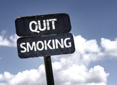 Quit Smoking sign — Stock Photo