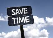 Save Time sign — Stock Photo